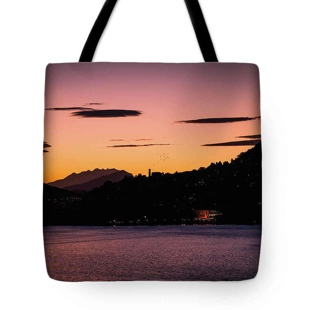 Town Tote Bag featuring the photograph Como, Italian Lake Distric by Deimagine