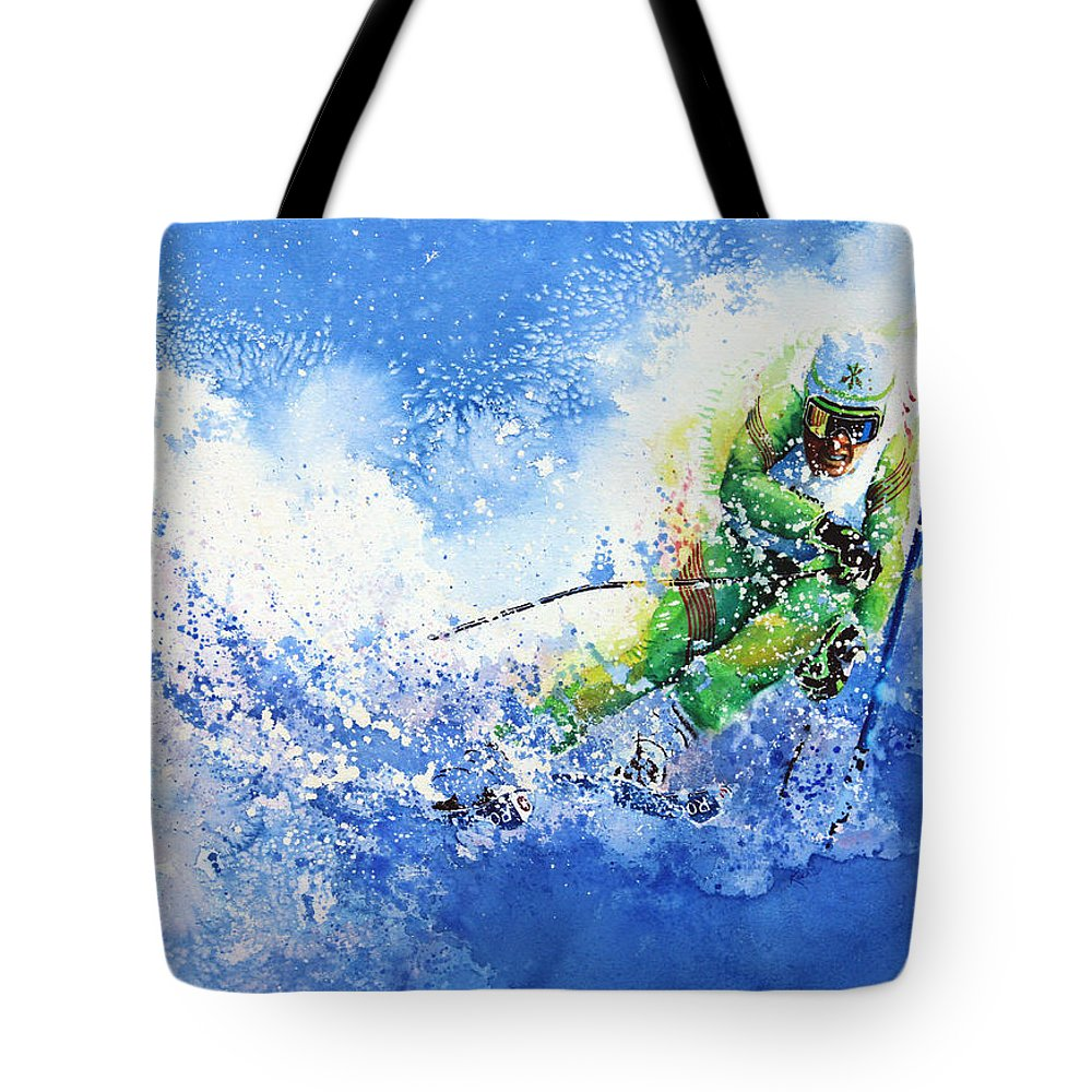 Olympic Sports Tote Bag featuring the painting Competitive Edge by Hanne Lore Koehler