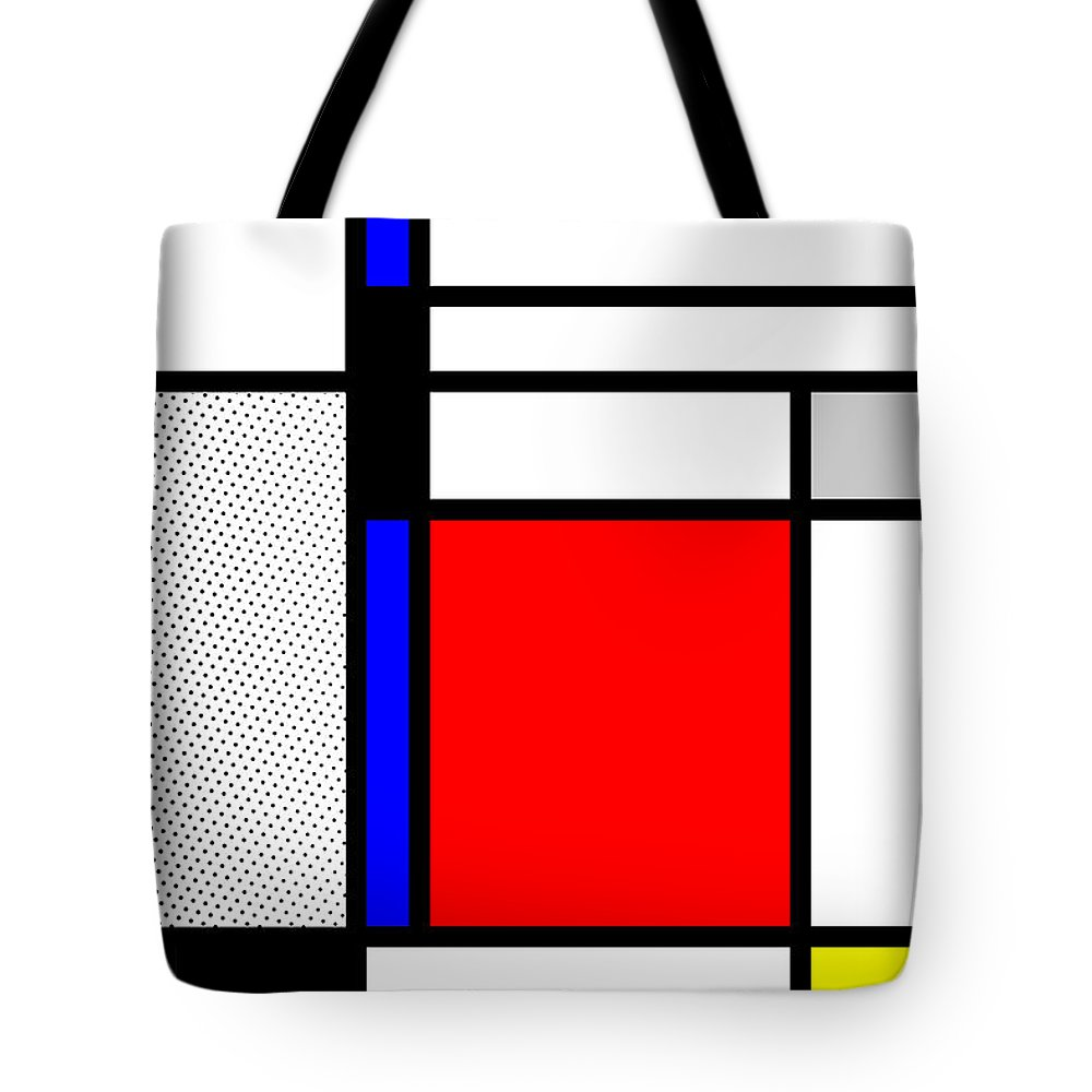 Mondrian Tote Bag featuring the mixed media Composition 102 by Dominic Piperata
