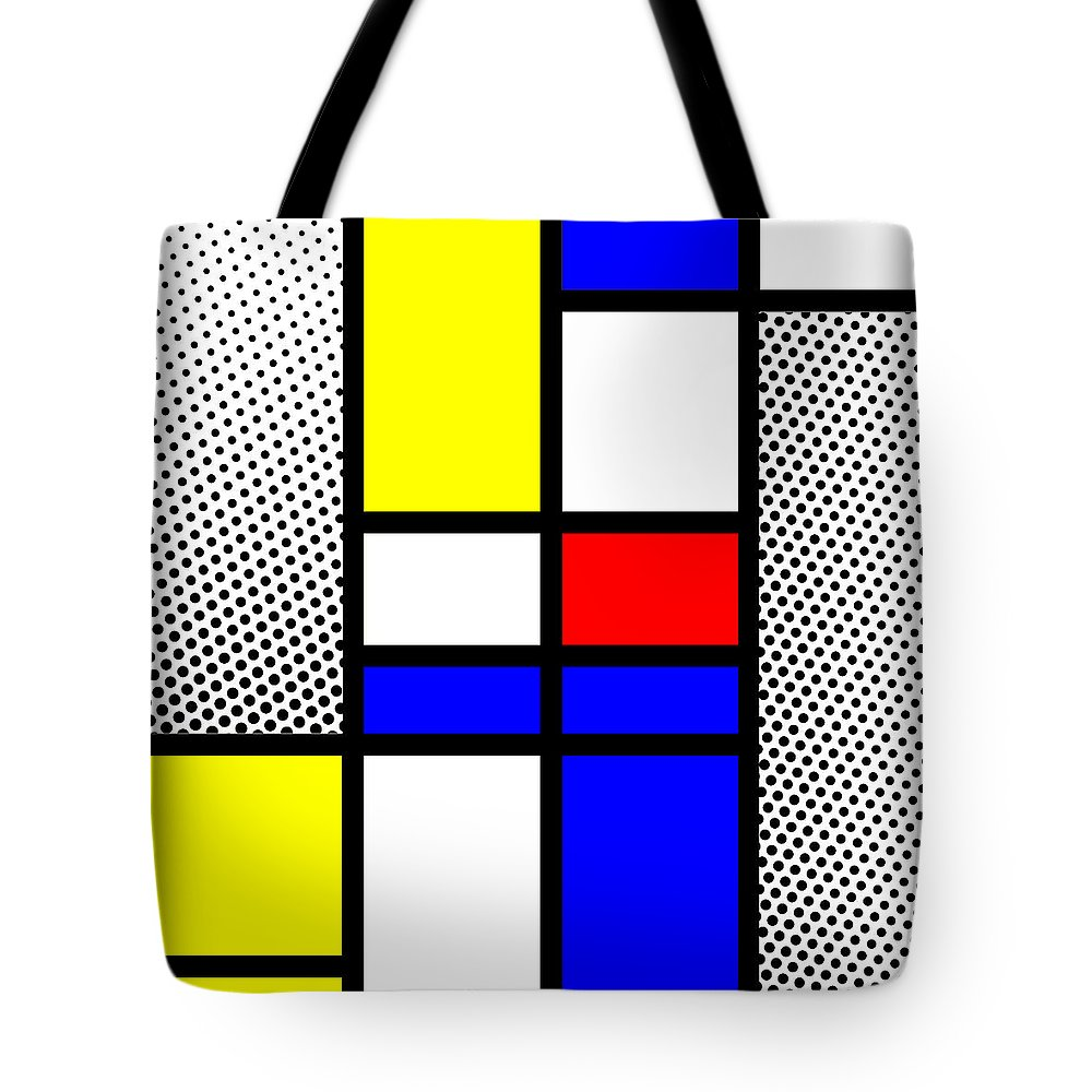 Mondrian Tote Bag featuring the mixed media Composition 112 by Dominic Piperata