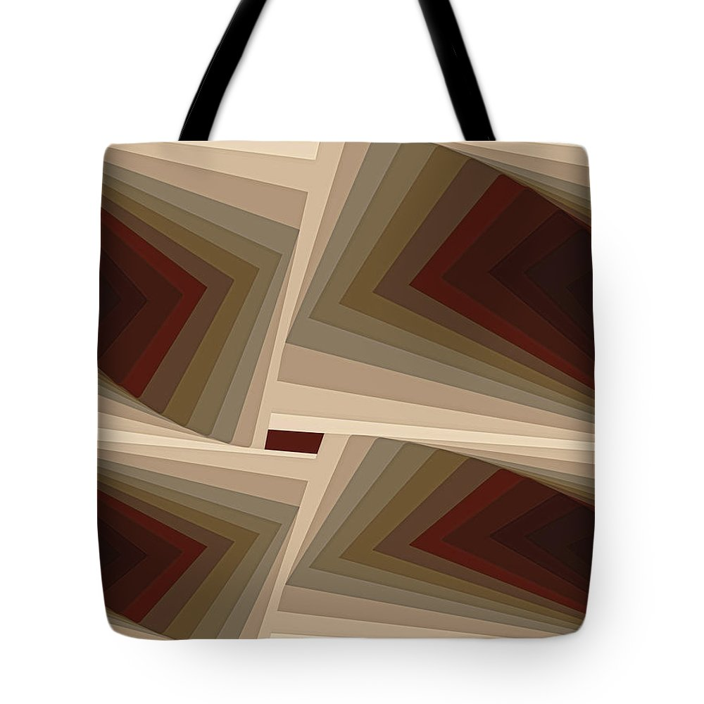 Tablet Tote Bag featuring the painting Composition 162 by Terry Reynoldson