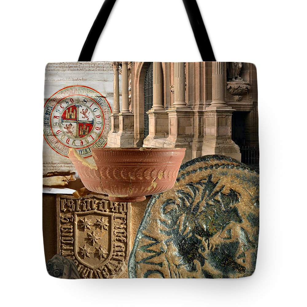 Calahorra Tote Bag featuring the photograph Composition For Poster Xiv Jornadas De Estudios Calagurritanos by RicardMN Photography