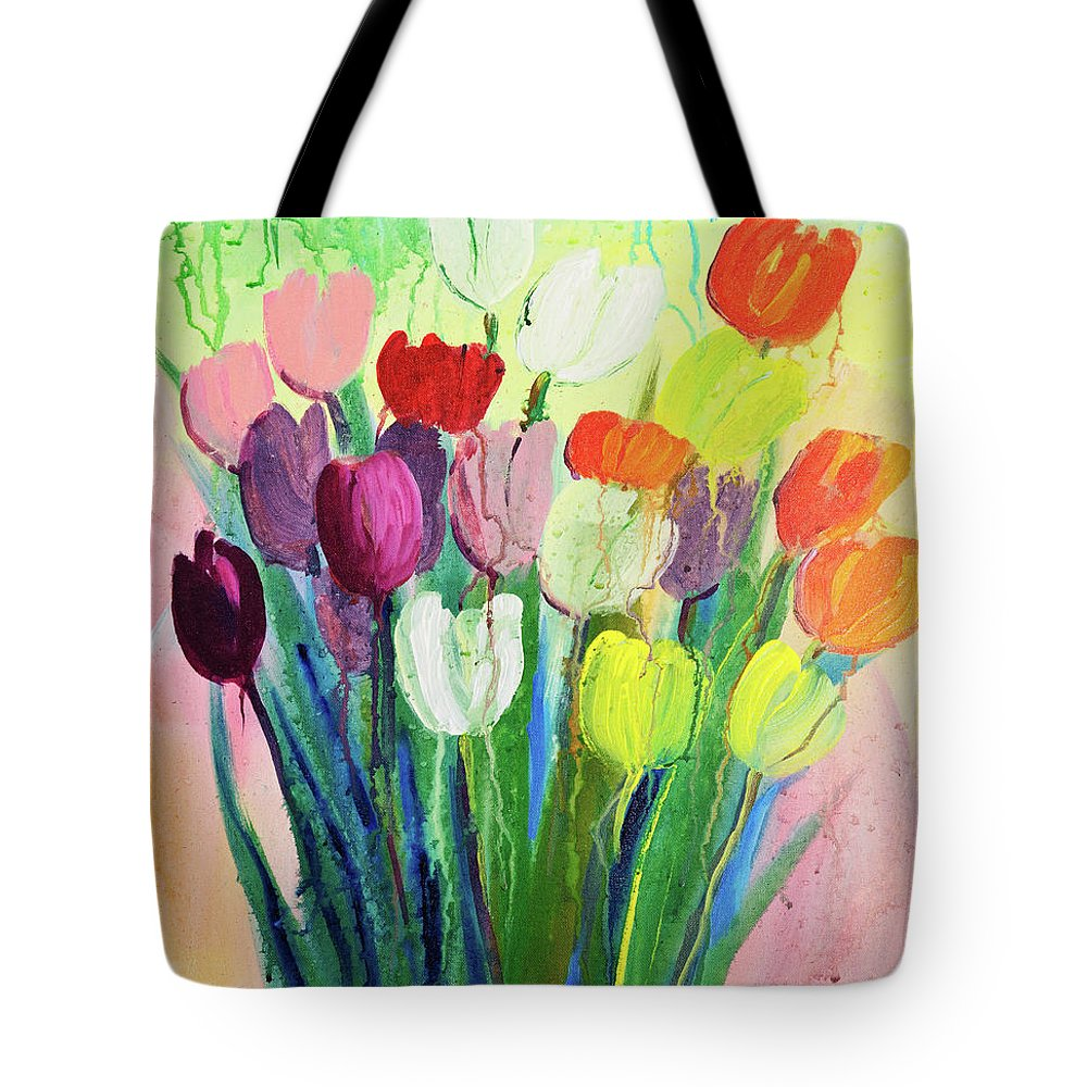 Art Tote Bag featuring the digital art Composition Of Flowers by Balticboy