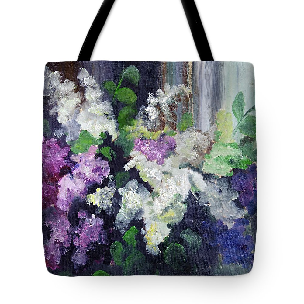 Art Tote Bag featuring the digital art Composition Of Lilac by Balticboy