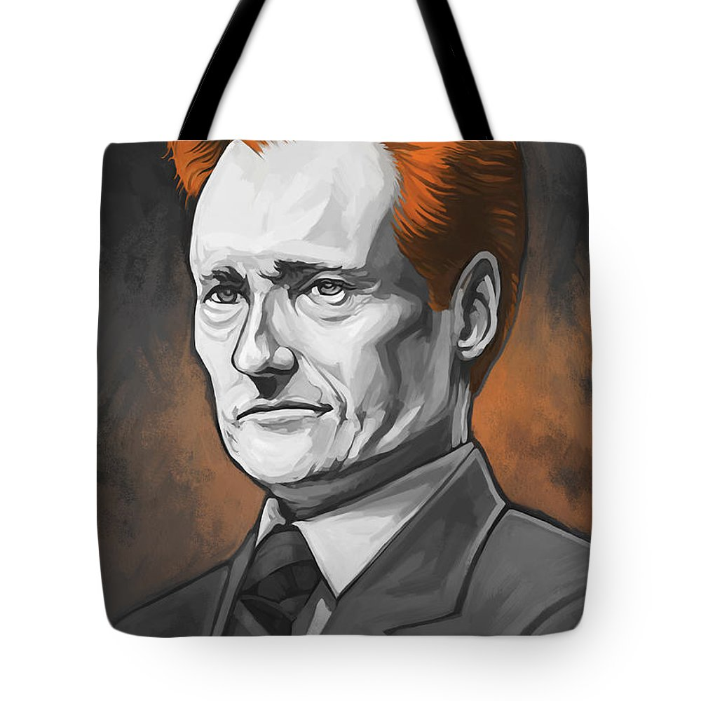 Conan O'brien Paintings Tote Bag featuring the painting Conan O'brien Artwork by Sheraz A