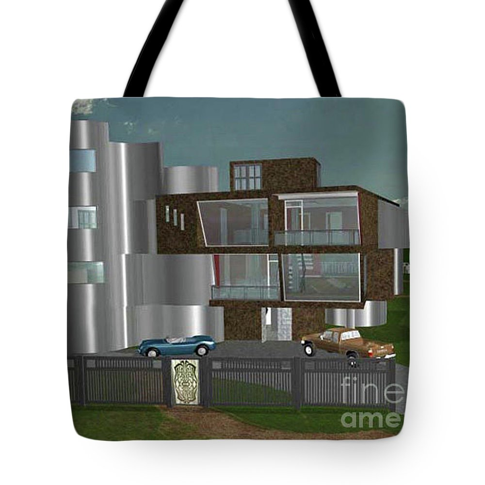 Concept Home Tote Bag featuring the digital art Concept Home by Peter Piatt