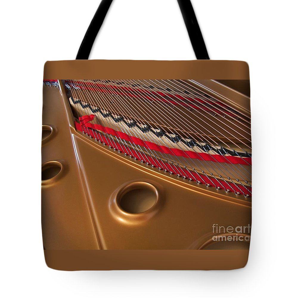 Piano Tote Bag featuring the photograph Concert Grand by Ann Horn
