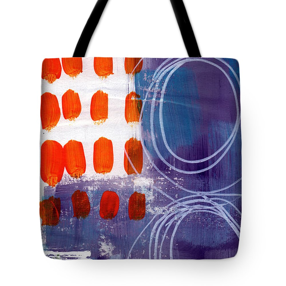 Abstract Painting Tote Bag featuring the painting Concerto One - Abstract Art by Linda Woods