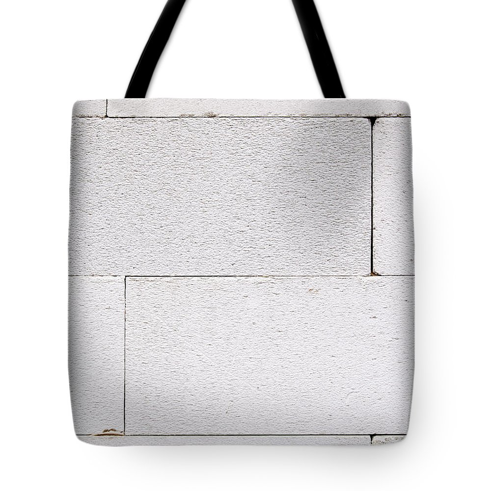 Background Tote Bag featuring the photograph Concrete Blocks Texture by Tim Hester