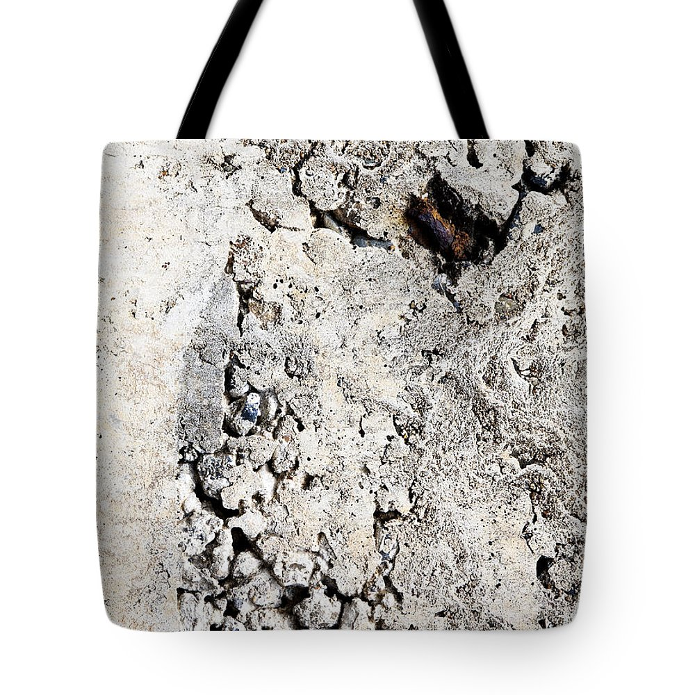 Concrete Wall Tote Bag featuring the photograph Concrete Texture by Tim Hester