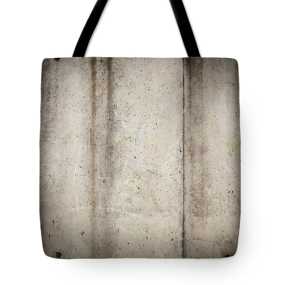 Abstract Tote Bag featuring the photograph Concrete Wall by Tim Hester