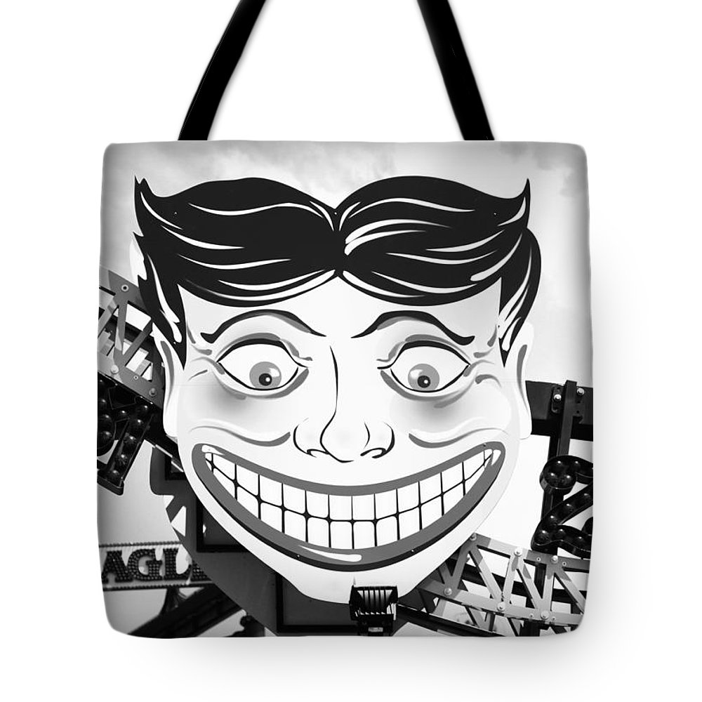 Coney Island Tote Bag featuring the photograph Coney Smile by Valentino Visentini