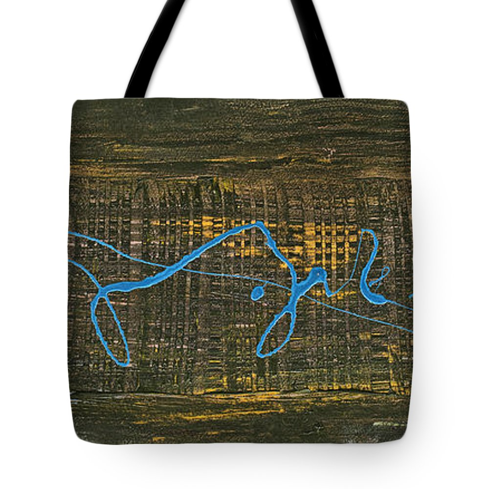 Connect Tote Bag featuring the painting Connected by Bjorn Sjogren