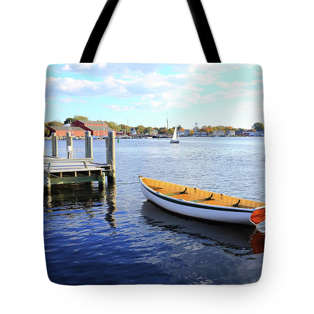Steps Tote Bag featuring the photograph Connecticut Mystic Seaport by Shunyufan