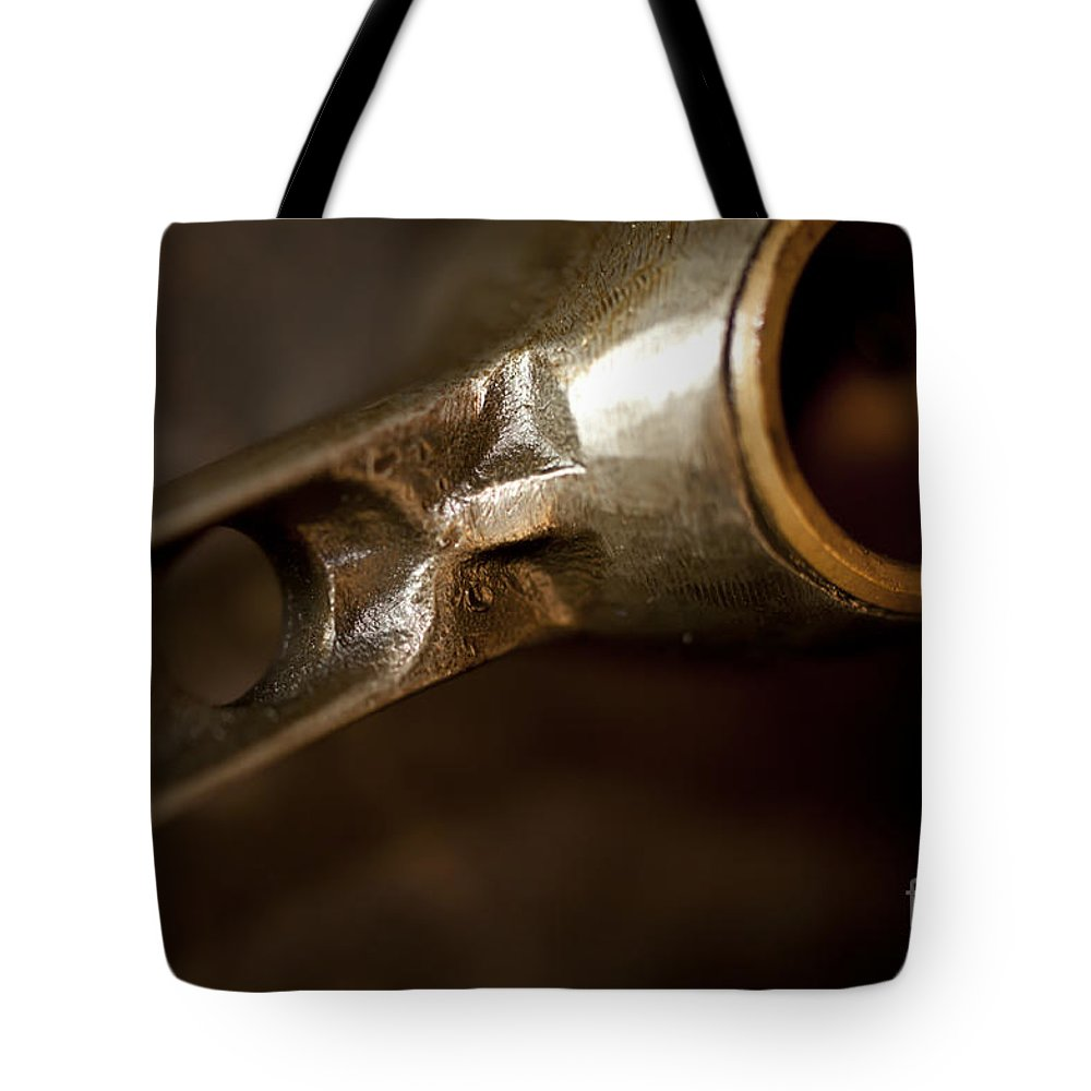 1940's Indian Scout Racer Tote Bag featuring the photograph Connecting Rods Indian Scout Racer by Wilma Birdwell