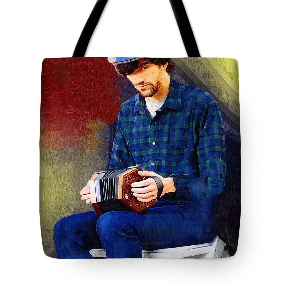 Man Tote Bag featuring the painting Connection by RC DeWinter