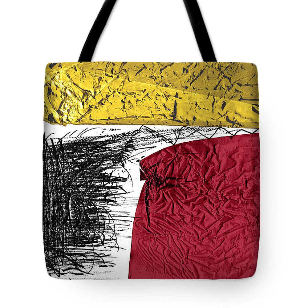 Abstract Tote Bag featuring the drawing Connection by Youri Ivanov
