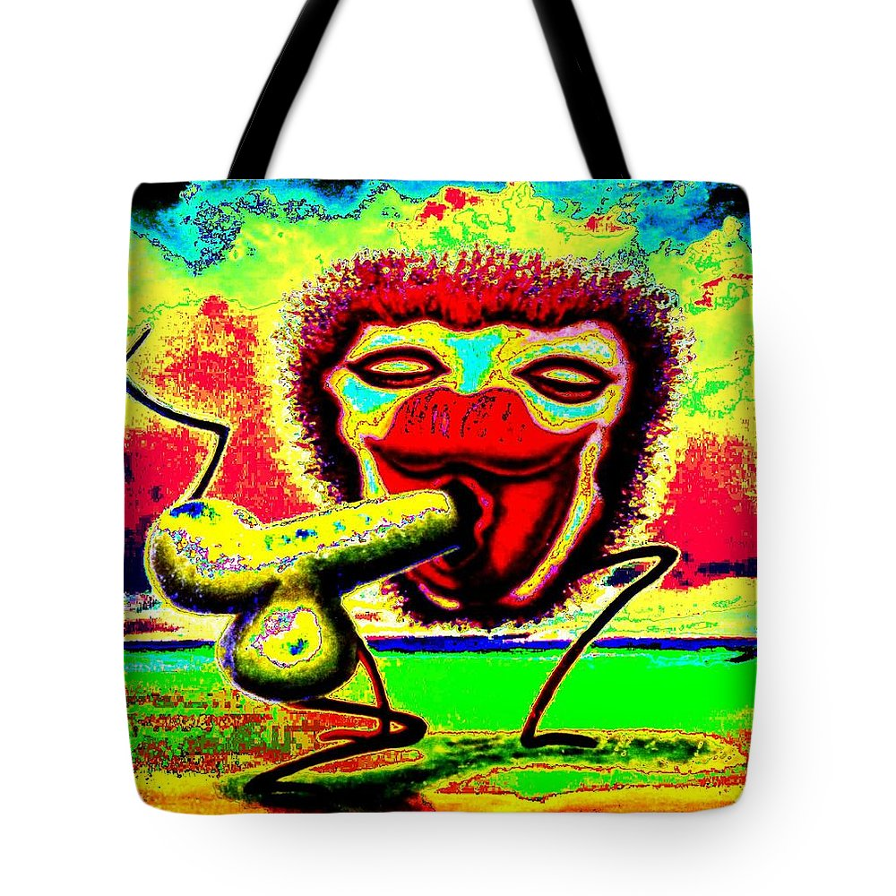 Genio Tote Bag featuring the mixed media Conscious Fulfilment by Genio GgXpress