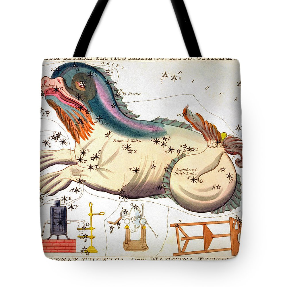 1825 Tote Bag featuring the photograph Constellation: Cetus by Granger