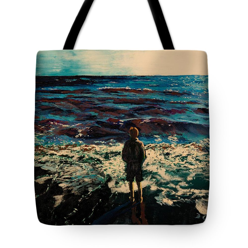 People Tote Bag featuring the painting Contemplation by Betty Compton