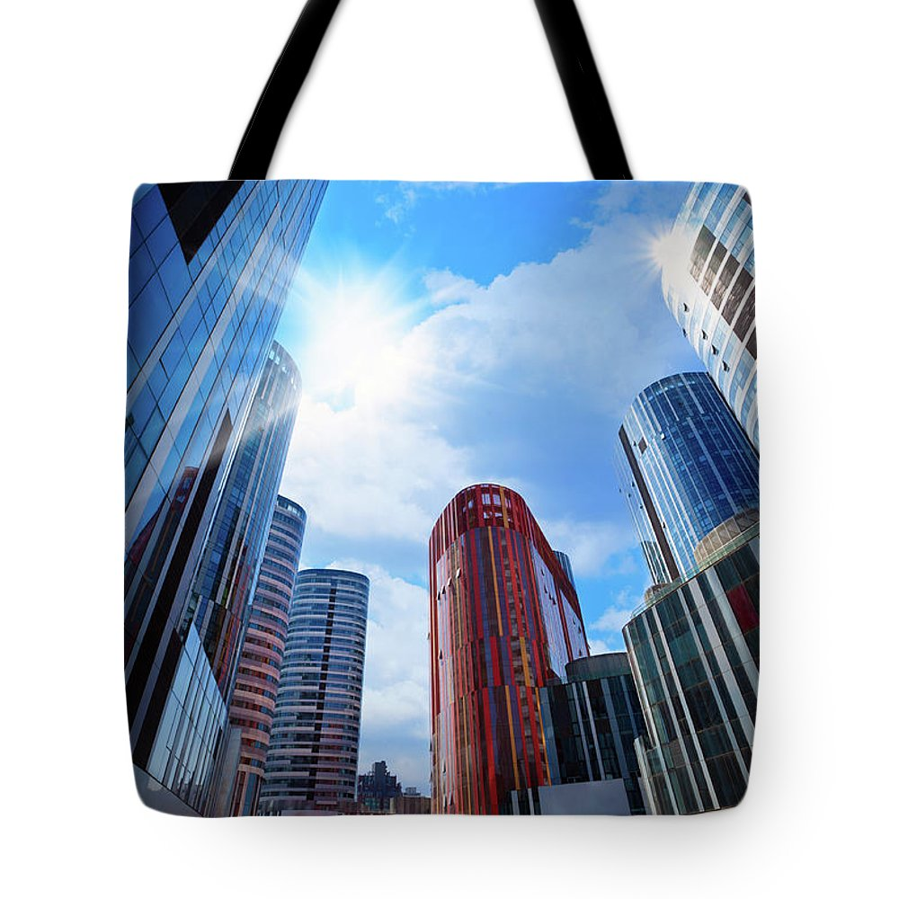 Chinese Culture Tote Bag featuring the photograph Contemporary Building by Ithinksky