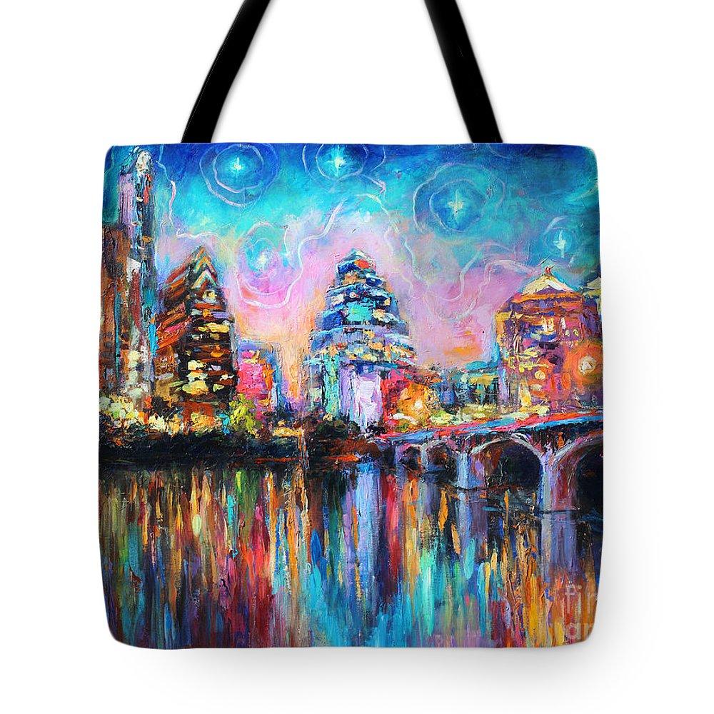 Austin Skyline Tote Bags
