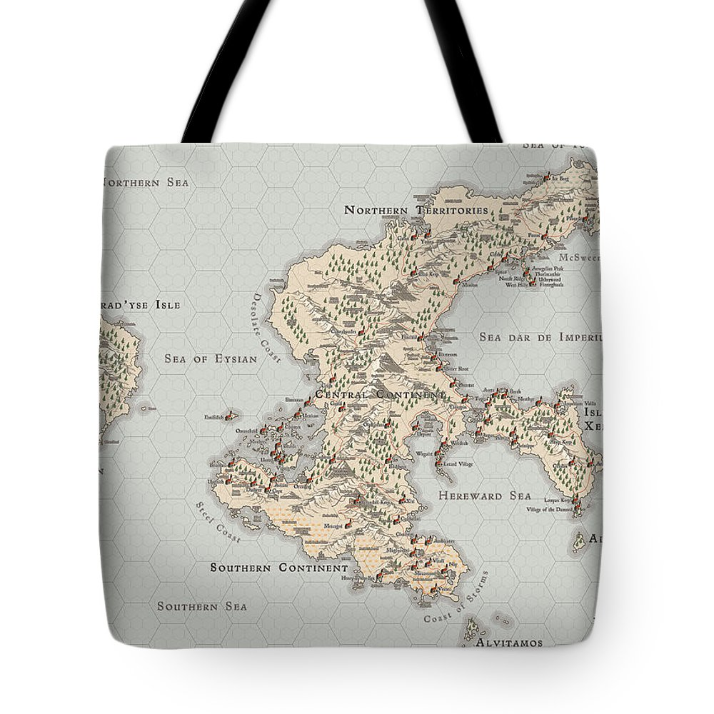 Usherwood Tote Bag featuring the digital art Continent Of Verme by James Kramer
