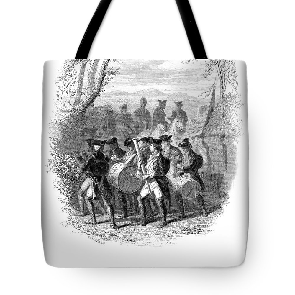 1780s Tote Bag featuring the photograph Continental Army Band by Granger