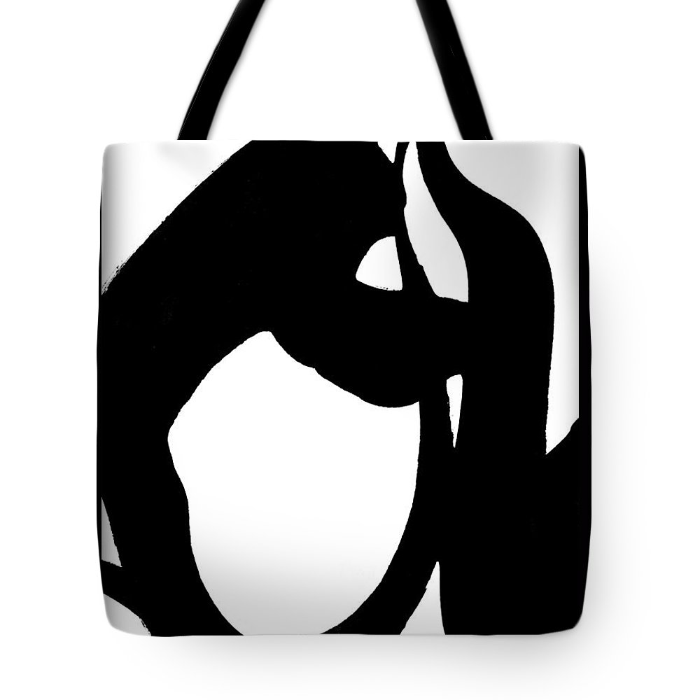 Sumi-e Tote Bag featuring the painting Continuity by SJ Crown