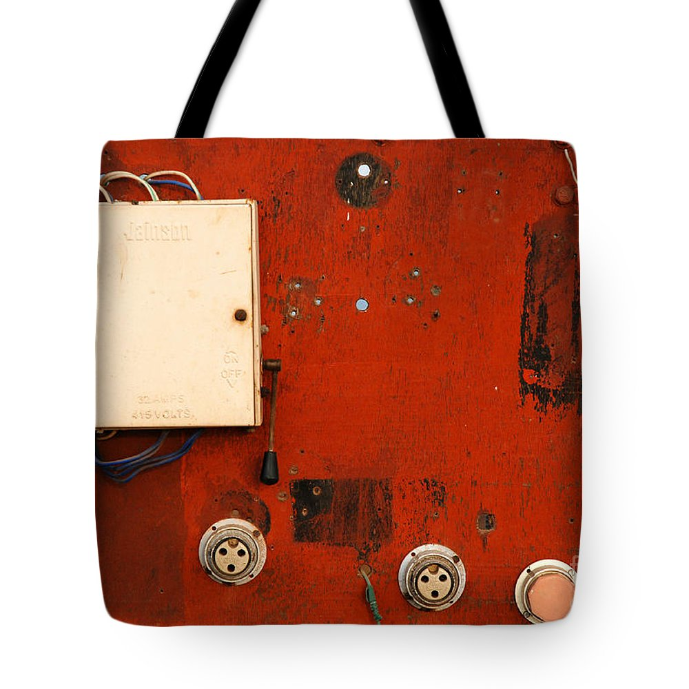 Red Tote Bag featuring the photograph Contrast by Dattaram Gawade