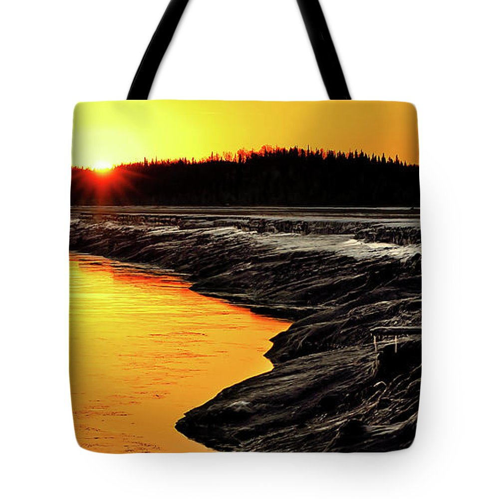 Alaska Tote Bag featuring the photograph Contrasts In Nature by Ron Day