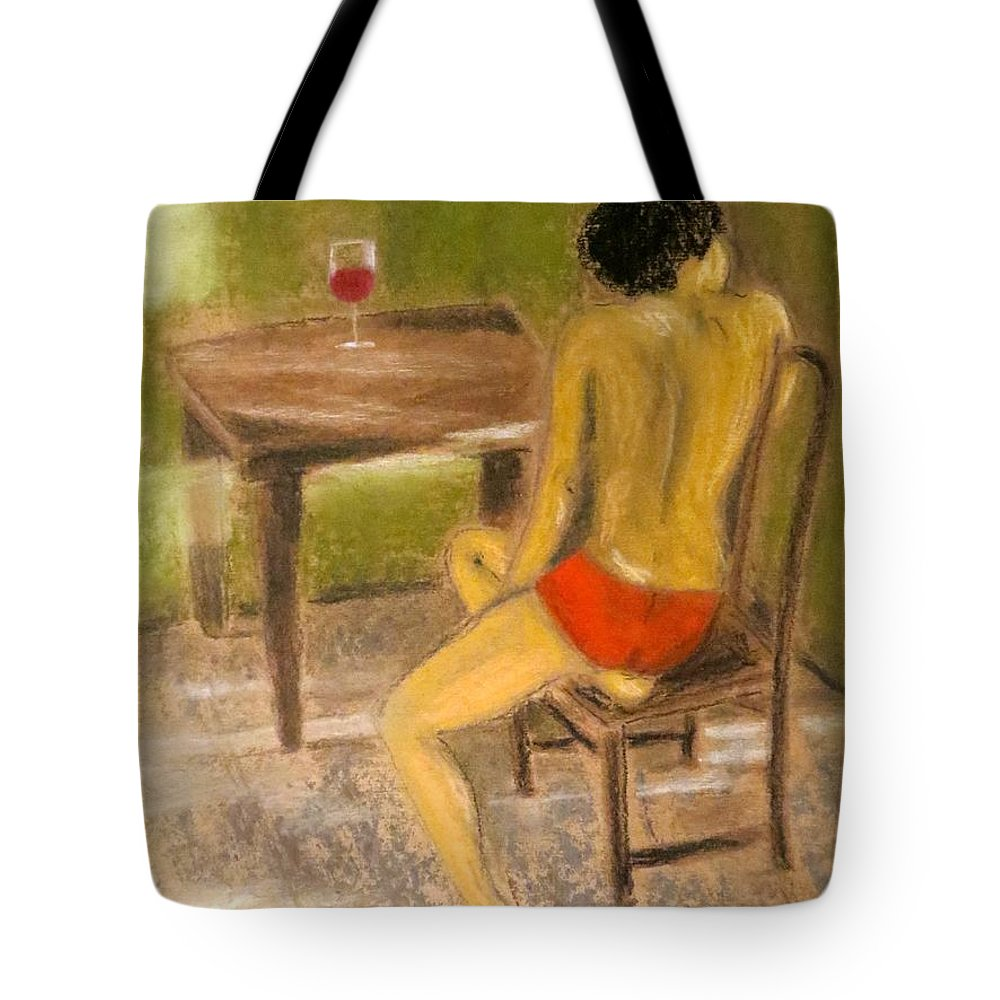 Ghosts Tote Bag featuring the pastel Conversations With You by C Pichura