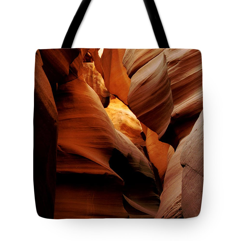 Antelope Canyon Tote Bag featuring the photograph Convolusions by Kathy McClure