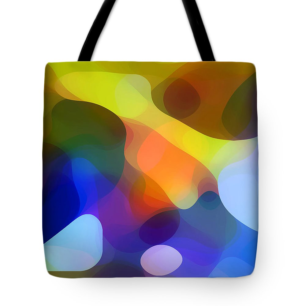 Bold Tote Bag featuring the painting Cool Dappled Light by Amy Vangsgard