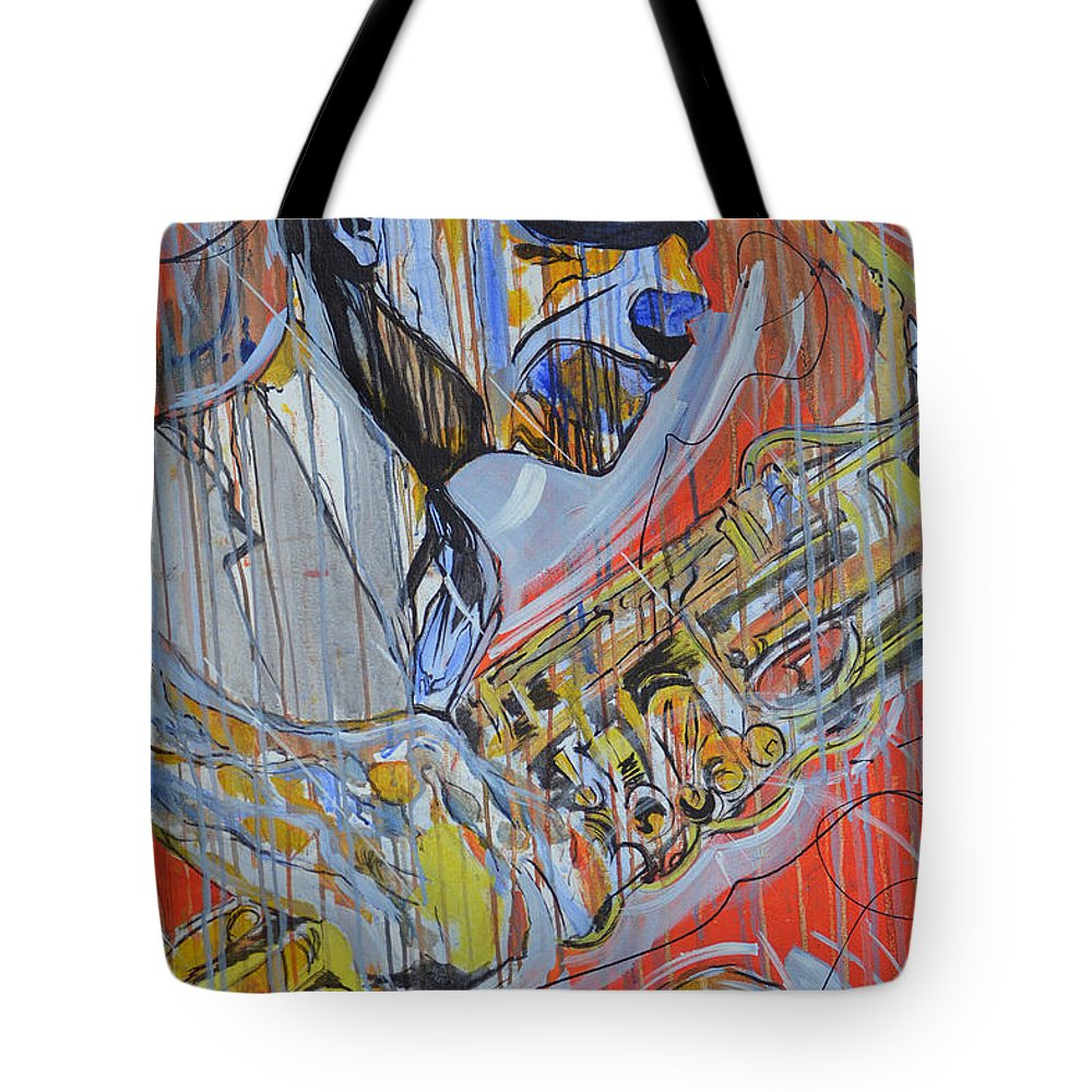Cool Tote Bag featuring the painting Cool Heat by Hasaan Kirkland