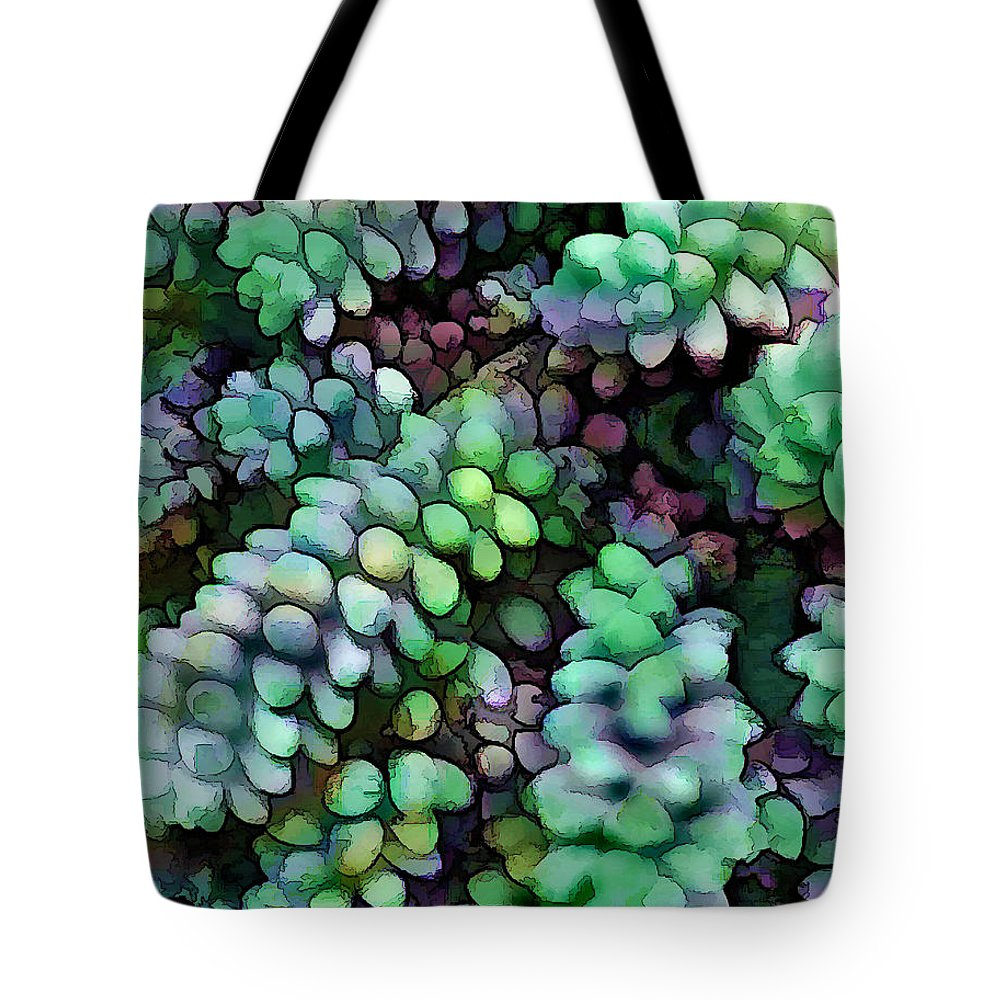 Cactus Tote Bag featuring the painting Cool Hued Burro's Tails In The Hot Desert by Elaine Plesser