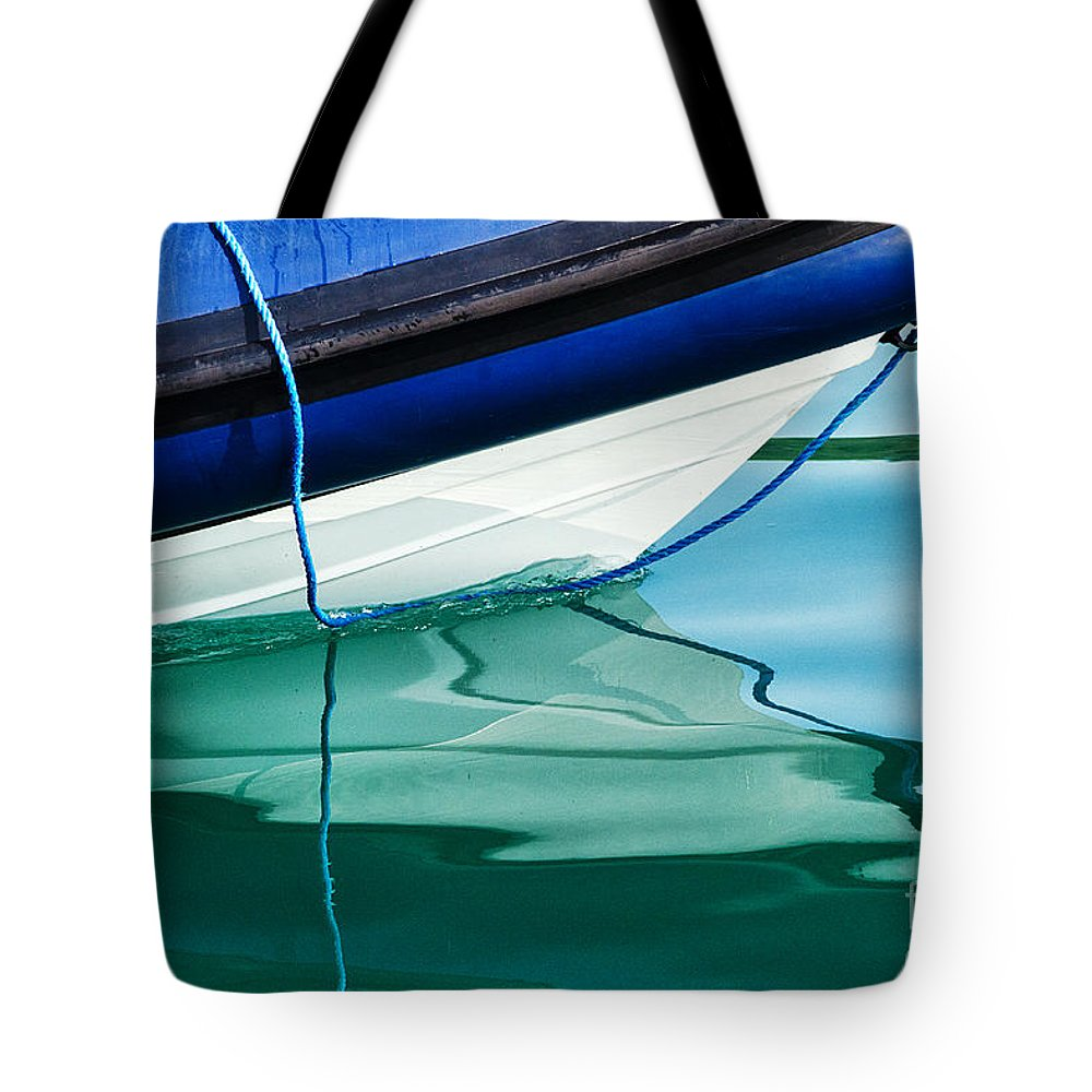 Boat Tote Bag featuring the photograph Cool Ocean Blues by Susie Peek
