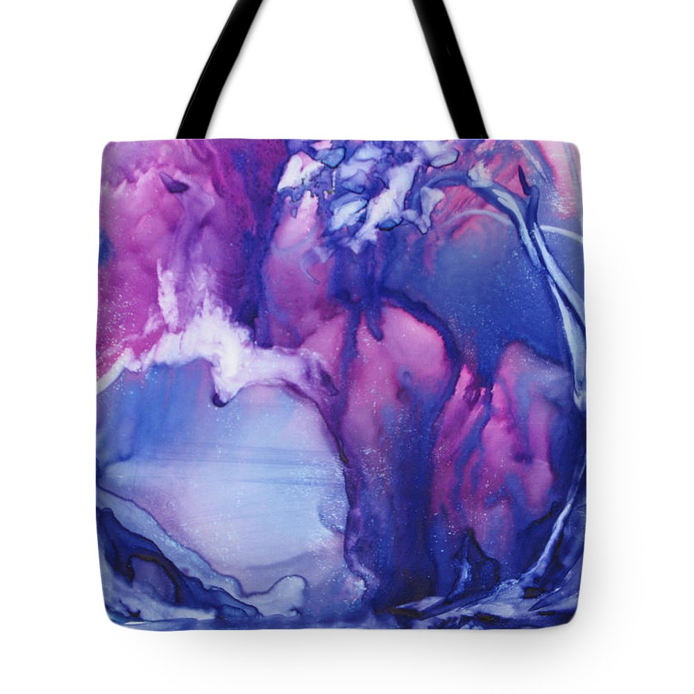 Modern Abstract Tote Bag featuring the painting Cool Silver Lake by Carol Schindelheim