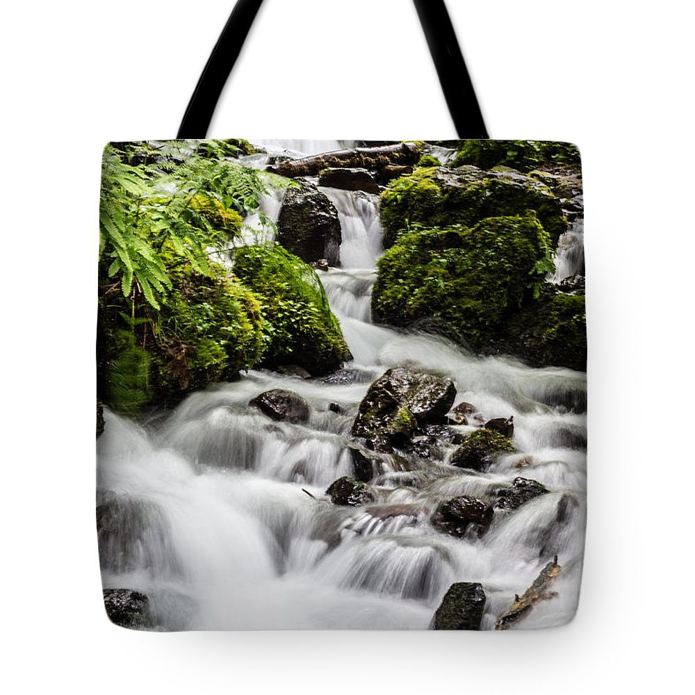 Wahkeena Falls Tote Bag featuring the photograph Cool Waters by Suzanne Luft