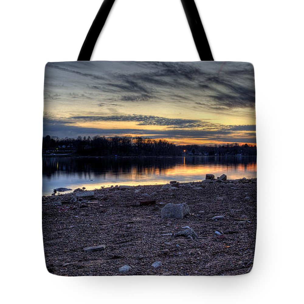 Sunset Tote Bag featuring the photograph Cool Winter Sunset by David Dufresne