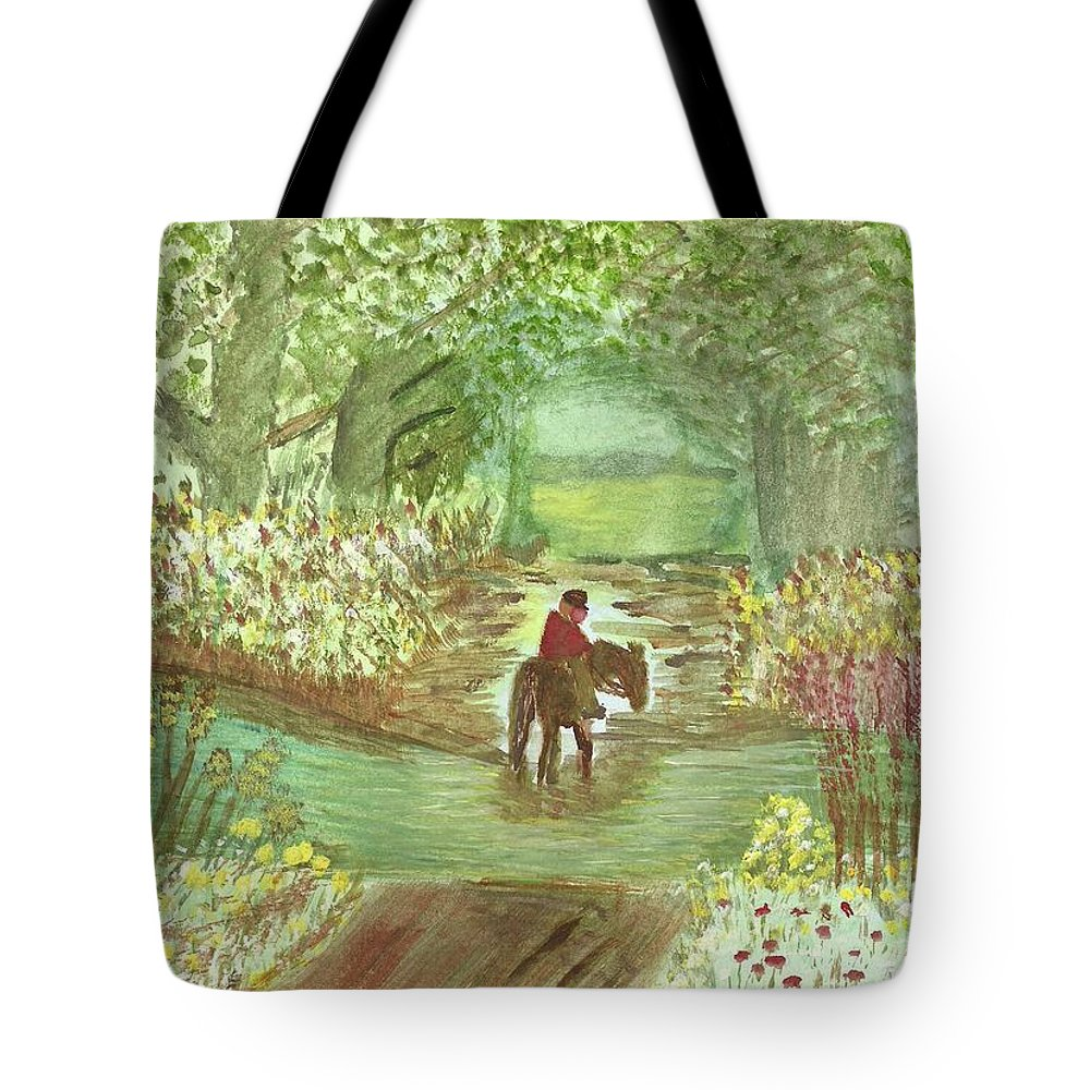 Cooling Off Tote Bag featuring the painting Cooling Off by Tracey Williams