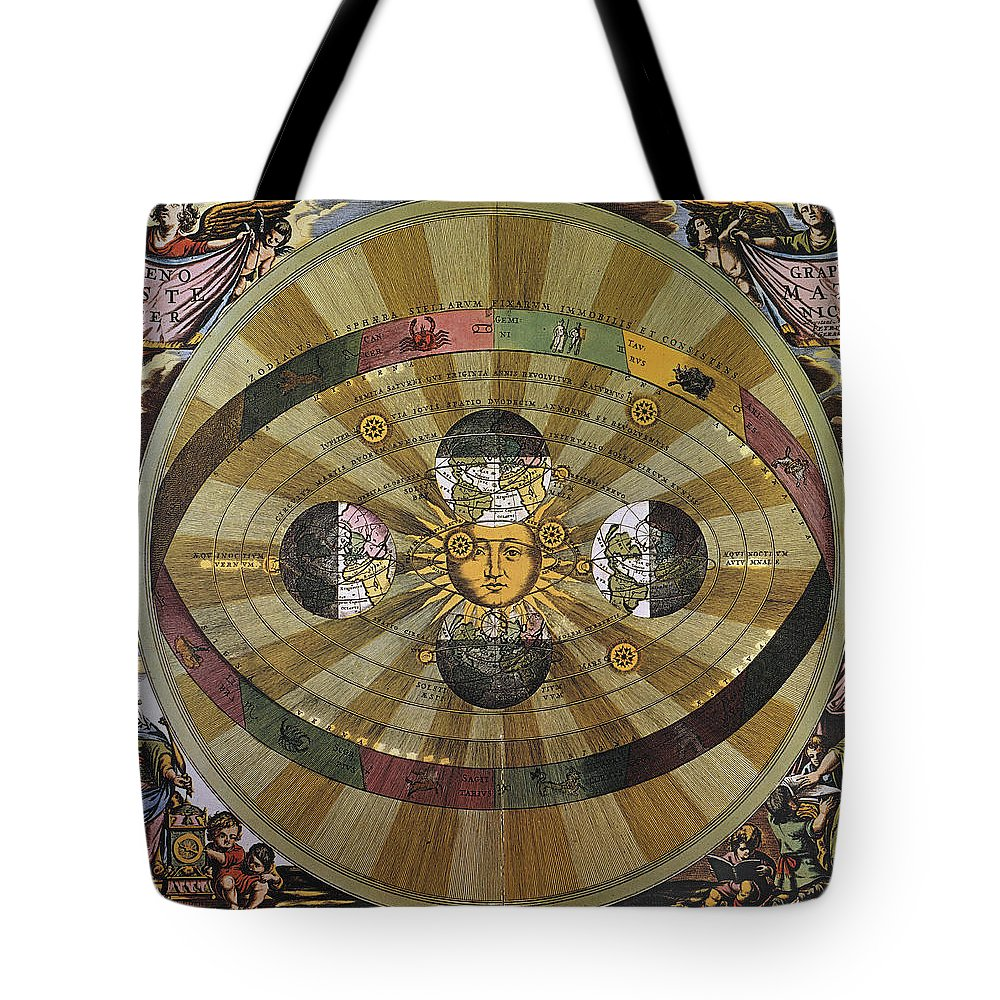 17th Century Tote Bag featuring the photograph Copernican Universe by Granger