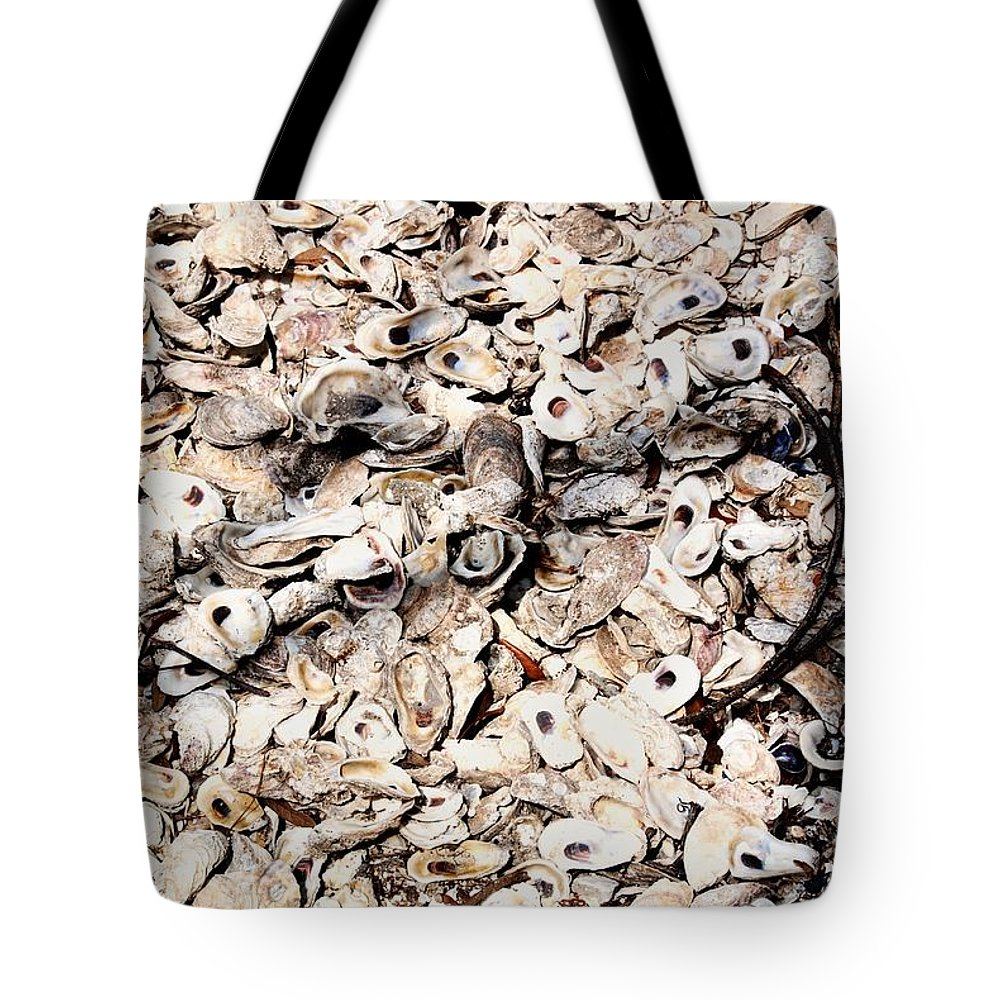Shells Tote Bag featuring the photograph Coquina by Joseph Desiderio