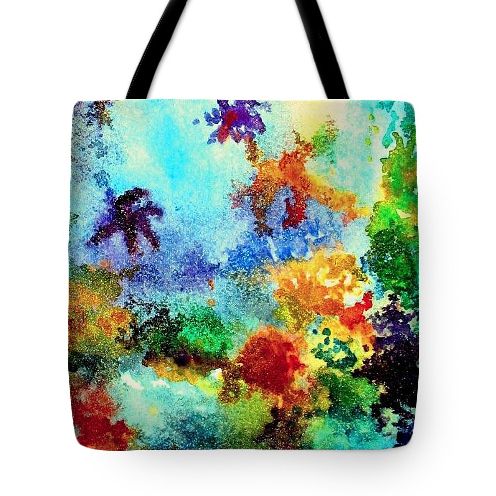 Coral Reef Tote Bag featuring the painting Coral Reef Impression 13 by Hazel Holland