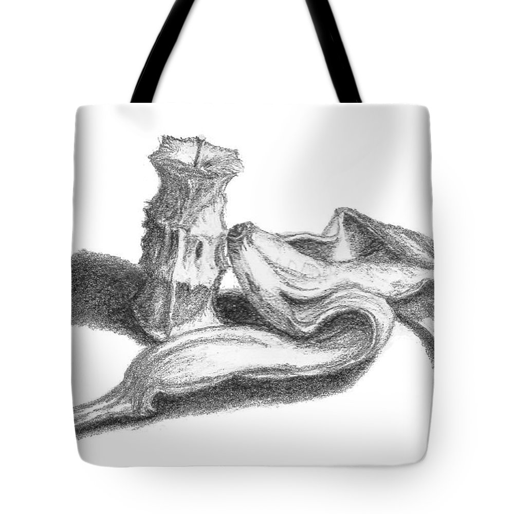 Sketch Tote Bag featuring the drawing Core And Skin Sketch by Conor O'Brien