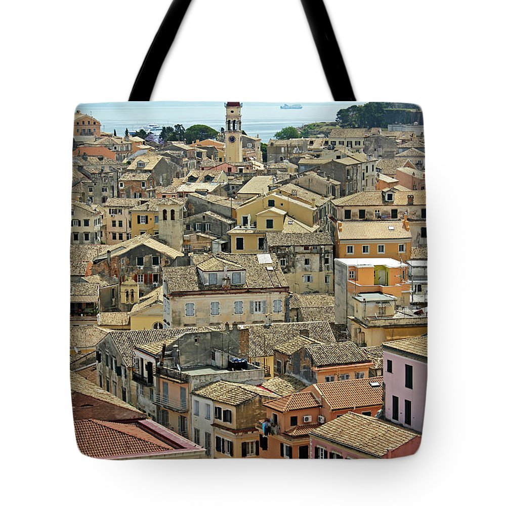 Greek Culture Tote Bag featuring the photograph Corfu, Greece by David Gould