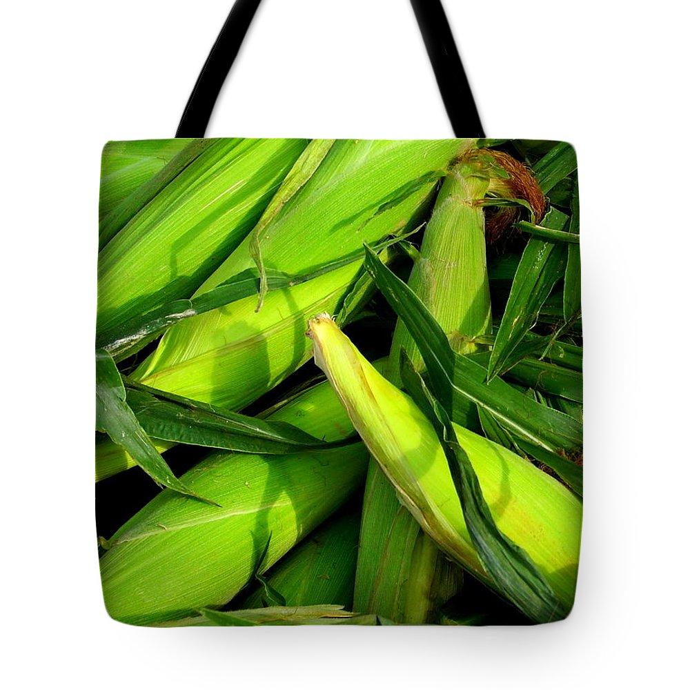 Farm Tote Bag featuring the photograph Corn by Jim Harris