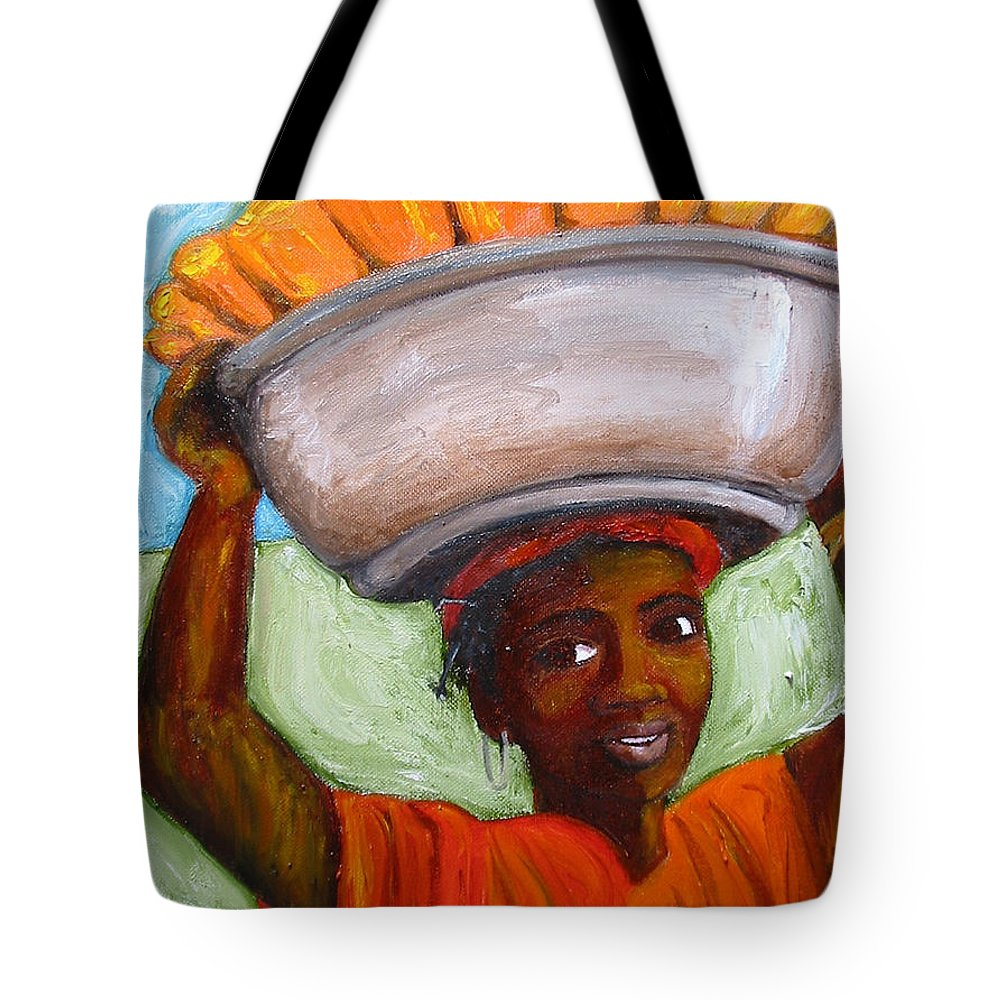 Colorful Tote Bag featuring the painting Corn Picker by Debbie Wright Swisher