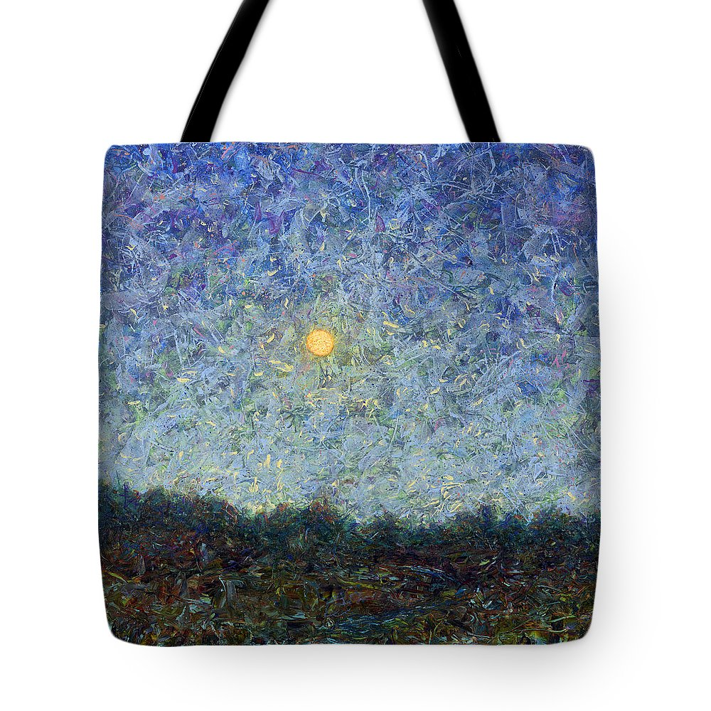 Cornbread Moon Tote Bag featuring the painting Cornbread Moon - Square by James W Johnson