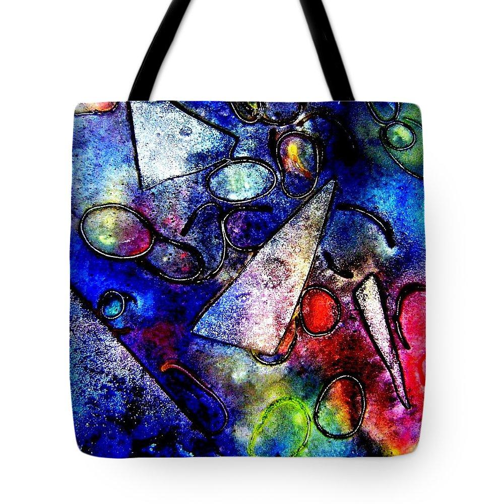 Abstract Tote Bag featuring the mixed media Cornucopia by John Nolan